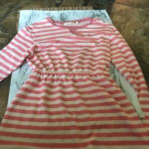 Maternity shirt pink white striped